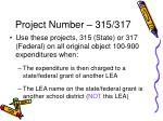 project number 315 317
