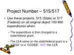 project number 515 517