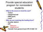 provide special education program for nonresident students31