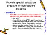 provide special education program for nonresident students34