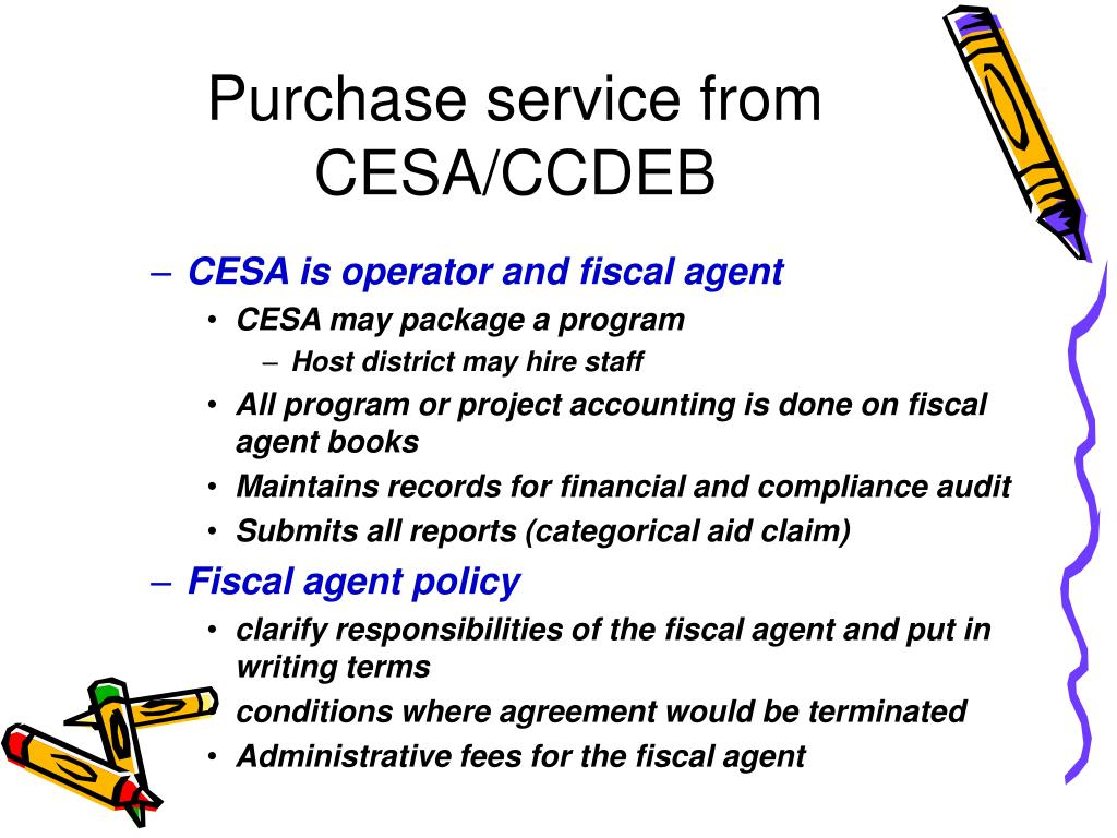 Purchase service from CESA/CCDEB