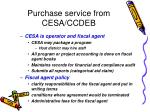 purchase service from cesa ccdeb
