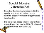 special education categorical aid61