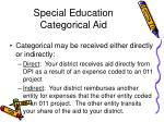 special education categorical aid62
