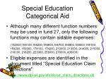 special education categorical aid63