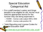 special education categorical aid64
