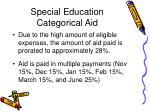 special education categorical aid65
