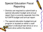 special education fiscal reporting