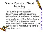 special education fiscal reporting67