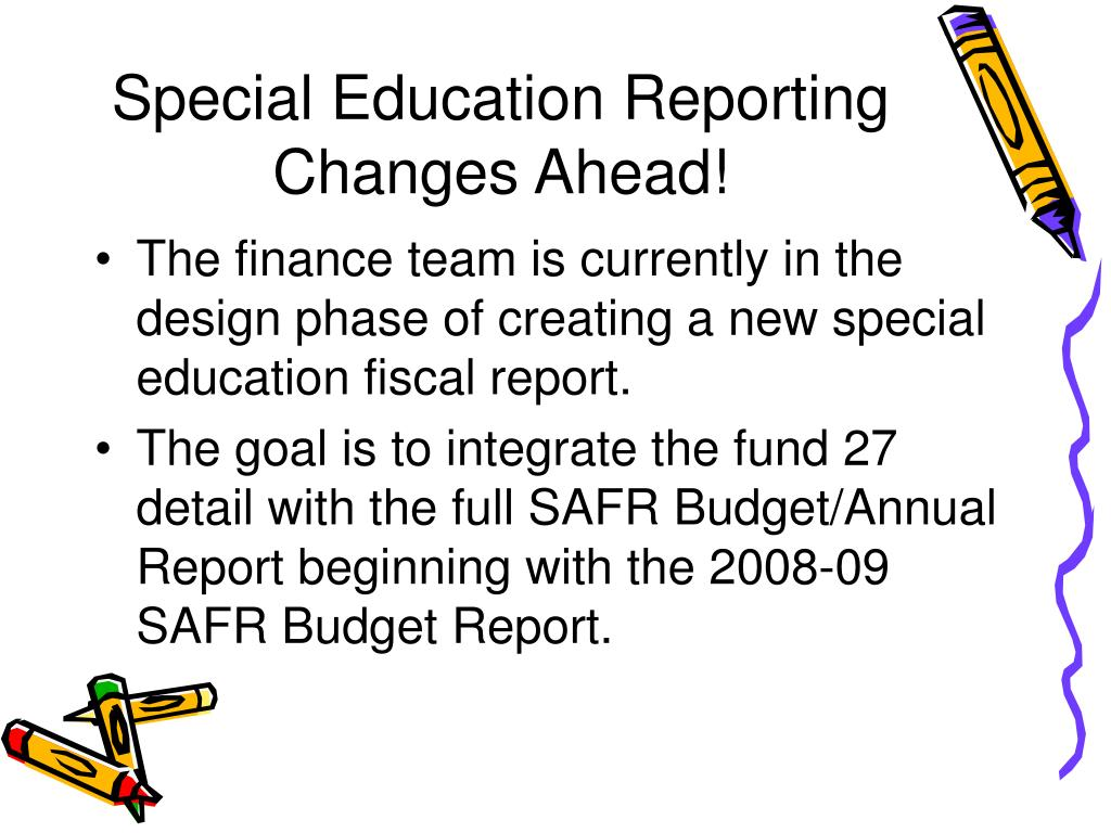 Special Education Reporting Changes Ahead!