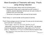 more examples of theorems with easy proofs using strong induction