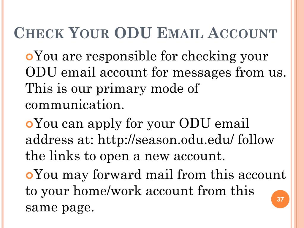 Check Your ODU Email Account
