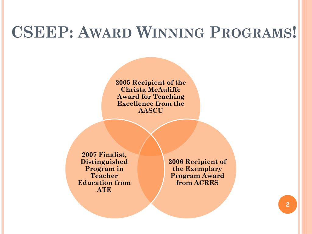 CSEEP: Award Winning Programs!