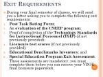exit requirements