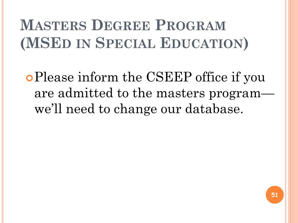Masters Degree Program