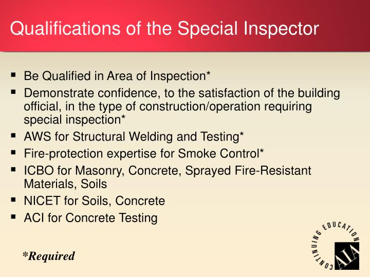 Building Code Inspector For A Generator