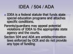 idea 504 ada