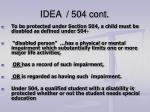 idea 504 cont