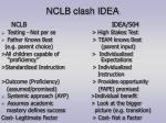 nclb clash idea