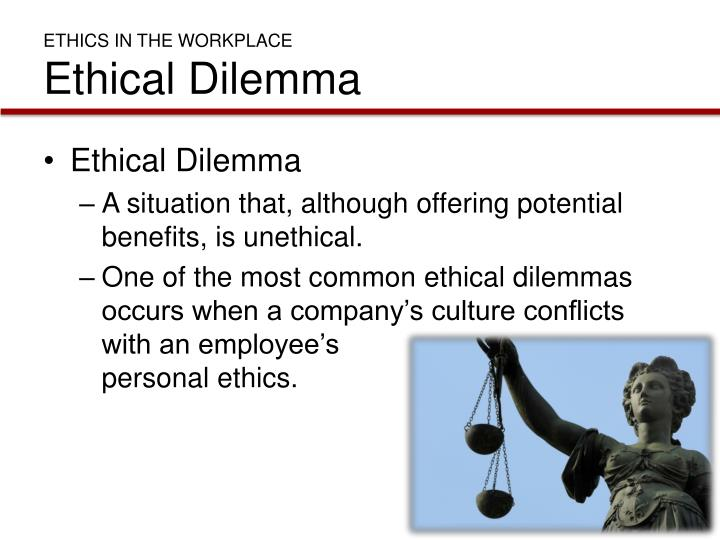 ethics of workplace discrimination What counts as workplace discrimination on an incident belong to the classification of workplace discrimination, the incident have to be associated with a if you feel that you've been discriminated against operate, what are your rights first, you can file a complaint with someone holding a superior.