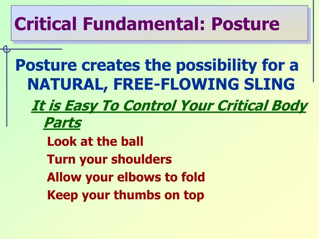 Critical Fundamental: Posture
