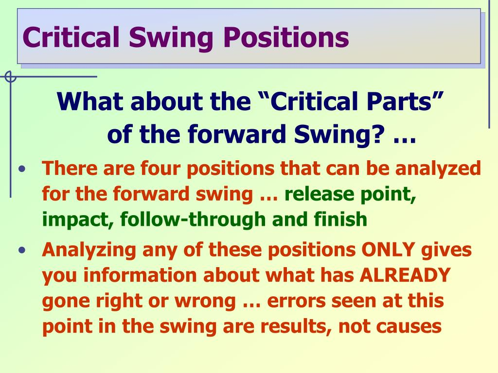 """What about the """"Critical Parts"""""""