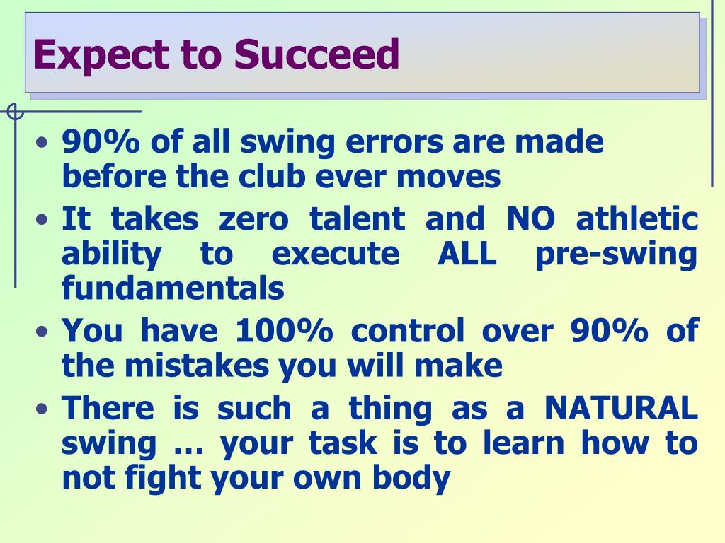 Expect to Succeed