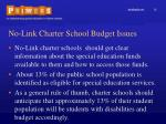 no link charter school budget issues