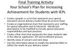 final training activity your school s plan for increasing achievement for students with ieps
