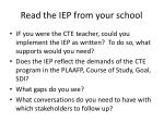 read the iep from your school