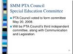 smm pta council special education committee