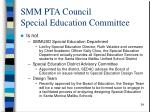 smm pta council special education committee54
