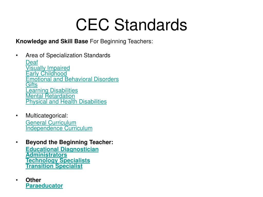 CEC Standards