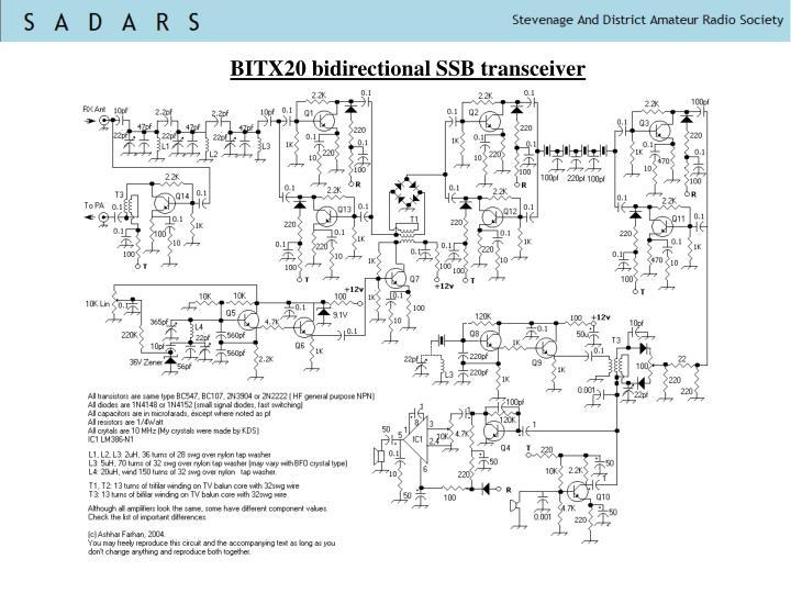 BITX20 bidirectional SSB transceiver