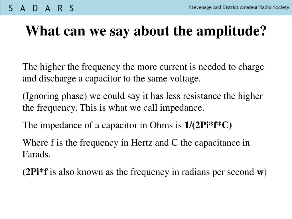 What can we say about the amplitude?
