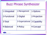 buzz phrase synthesizer
