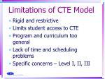 limitations of cte model