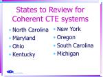 states to review for coherent cte systems