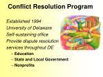 conflict resolution program