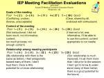iep meeting facilitation evaluations