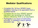 mediator qualifications
