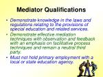 mediator qualifications12