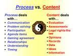 process vs content