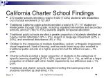 california charter school findings