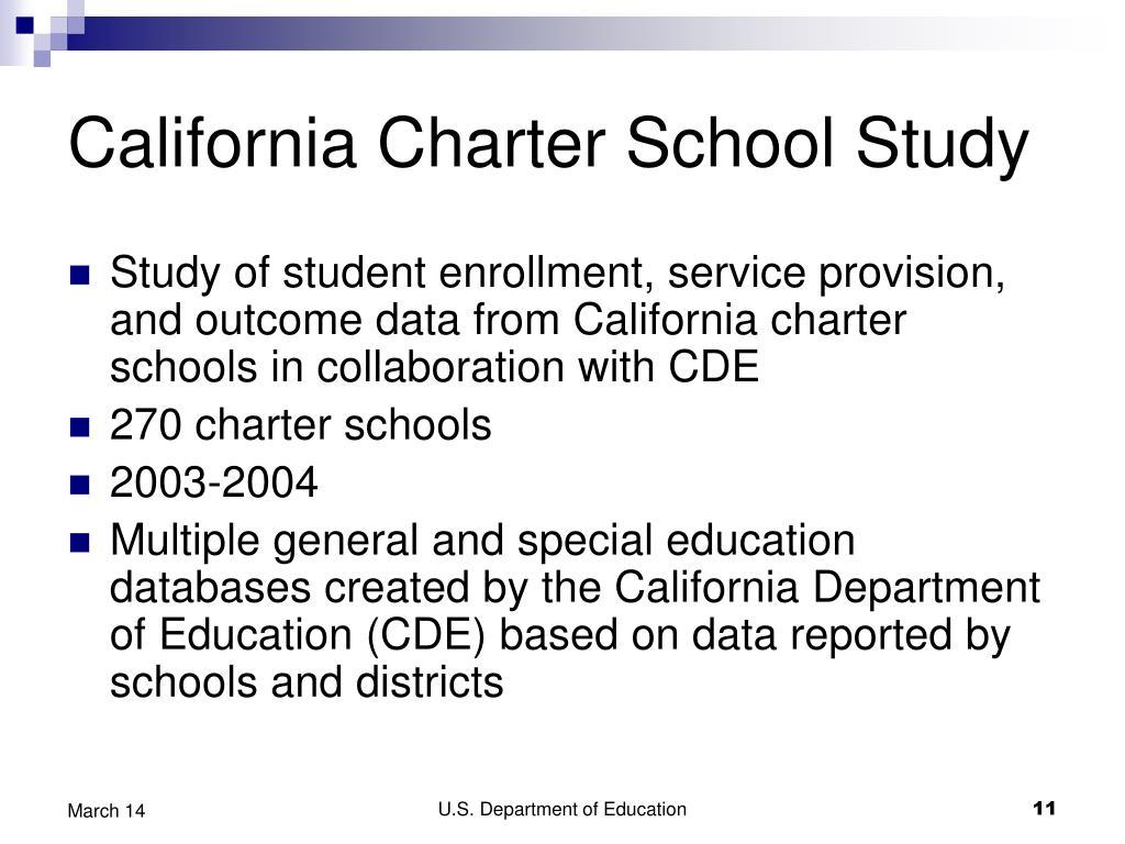 California Charter School Study