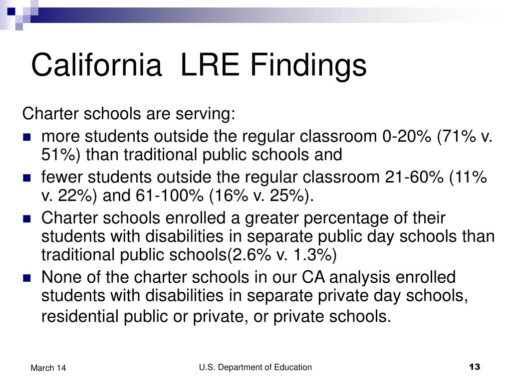 California  LRE Findings