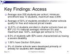 key findings access