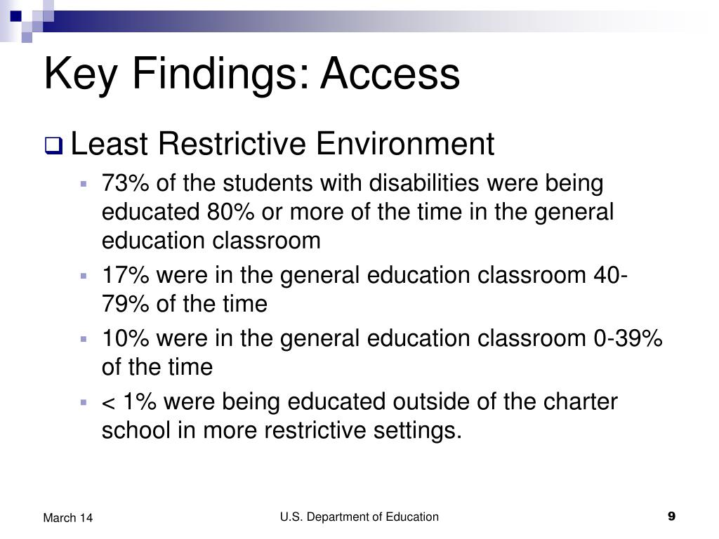 Key Findings: Access
