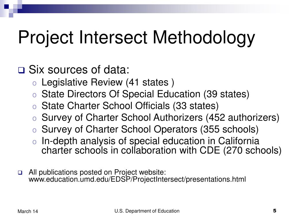 Project Intersect Methodology