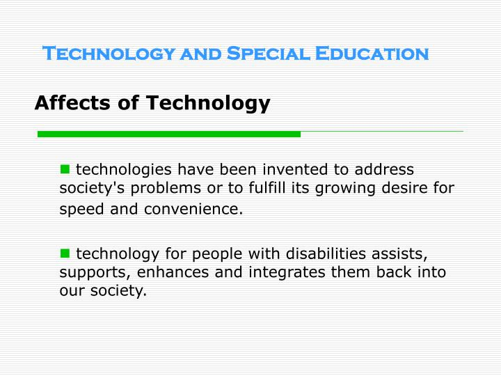 Technology and special education2